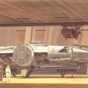 Ralph McQuarrie Millennium Falcon In Mos Espa space port