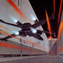 Ralph McQuarrie X Wing attacking the Death Star