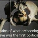 Ramains of what archaeologists believe was the first politician