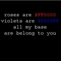 Roses are FF0000
