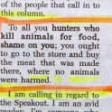 Shame On You Hunters