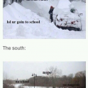 Snow The North Vs The South