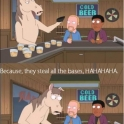 So a horse walks in to a bar