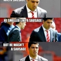 Suarez thought he was sausage