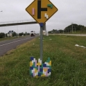 Tetris Sign post