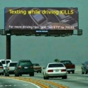 Texting whle driving KILLS