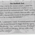 The Bathtub Test