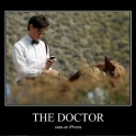 The Doctor uses an iPhone2