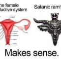 The Female Reproductive System vs Satanic Rams Head