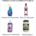 Things to eat and drink in public