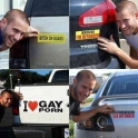 Trolling with car stickers