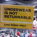 Underware is not returnable