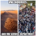 WV Emquires vs service department