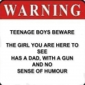 Warning Dad With Gun