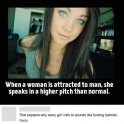 When a women is attracted to a man