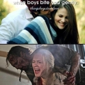 When boys bite you