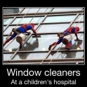 Window Cleaners At A Childrens Hospital