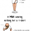 Women vs Men Wearing a T Shirt