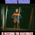 Wonder Woman is watching you masturbate2