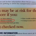 You may be at risk from throat cancer if you...