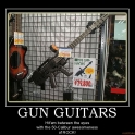 gun guitars gun guitar guitars demotivational poster 2