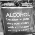 start with alcohol