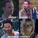 the evolution of Ricks mass amounts of hair