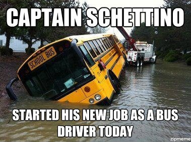 Captain Schettino Started his new job today