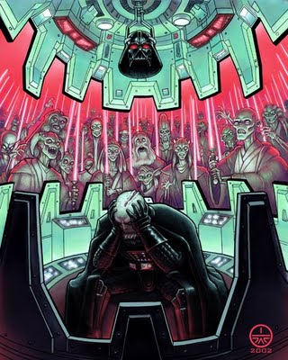 Darth Vader Having Knightmares (Jedi Knights.....)