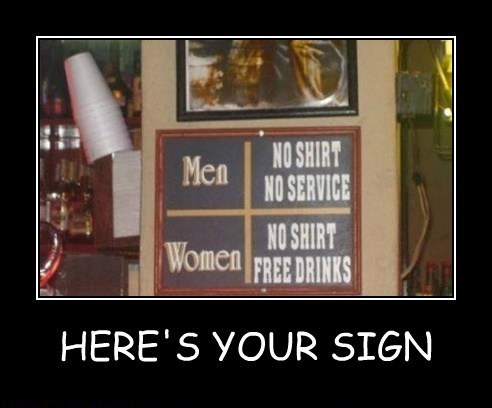 heres your sign