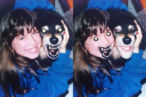 teeth face swap with dog